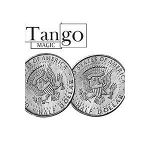 sided Tail HALF Dollar coin Magic Trick close up