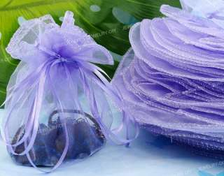 30 X Purple Organza Wedding Favor Gift Jewelry Pouch Bag 33cm