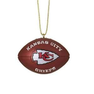 BSS   Kansas City Chiefs NFL Resin Football Ornament (1.75