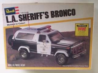 Sheriffs FORD Bronco 4x4 Truck 125 Revell Vintage