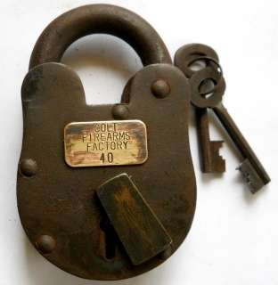 Old West Colt Firearms Factory numbered iron Lock #1100C