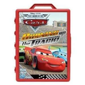 Disneys Cars Carrying Case Burning Up the Track Theme 50 Car