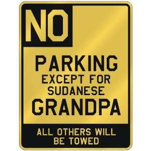FOR SUDANESE GRANDPA  PARKING SIGN COUNTRY SUDAN