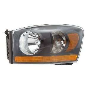 Dodge Ram Pickup Black OE Style Replacement Headlight Headlamp Driver
