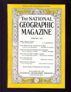 Geographic January 1943 very good Glass WW2 Dogs Gibraltar