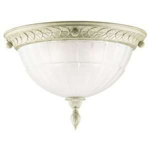 Westinghouse 69093   3 Light Platinum Ore Ceiling Flush Mount Light