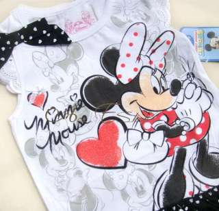 SZ 4 5 6 7 Minnie Mouse Costume Summer Dress Polka Dots Skirt Outfit