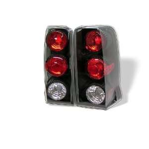 02 06 Cadillac Escalade Tail Lights   Black (pair