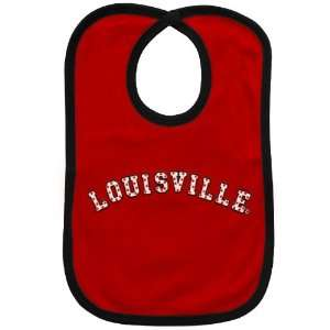 NCAA Louisville Cardinals Red Bib with Snap Closure