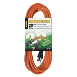 25 Foot 16/3 SJTW Medium Duty Extension Cord, Orange