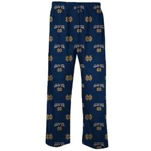 Dame Fighting Irish Mens Supreme Navy Pajama Pants