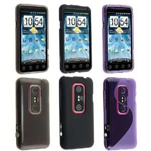 3 Tones Case Bundle Soft Clear Smoke TPU Rubber Gel Skin