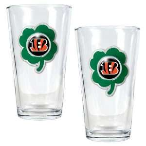 NFL Cincinnati Bengals St. Patricks Day 2pc Pint Glass Set
