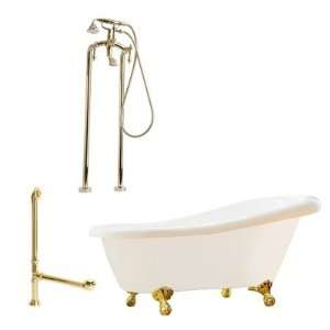 Giagni LH2  Hawthorne 60 Slipper Tub with Floor Mount Faucet Faucet