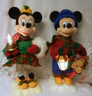 Mickey Minnie Mouse Christmas Animated Musical Motion ette