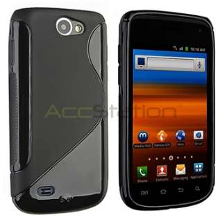 For Samsung Exhibit 2 II 4G T679 Black S Curve TPU Rubber Gel Cover