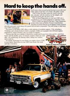 by artist what s new vintage art 1979 ad gmc general motors pickup