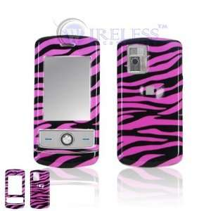 LG CU720 Shine Cell Phone Hot Pink/Black Zebra Design
