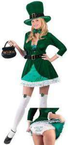 Ladies ST PATRICK Irish LEPRECHAUN fancy dress costume
