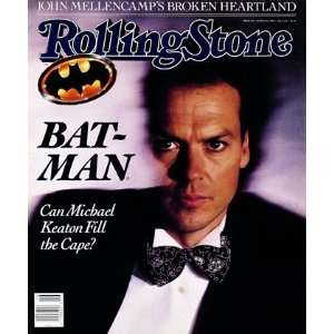 Michael Keaton, 1989 Rolling Stone Cover Poster by Bonnie