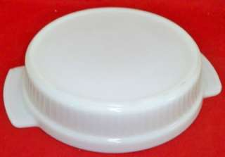 Fire King Milk Glass 1 Qt Round Baker Cake Pan Anchor
