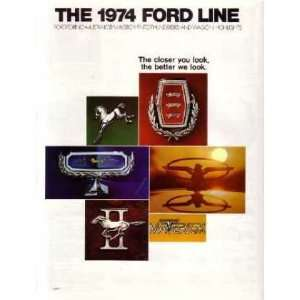1974 FORD Sales Brochure Literature Book Piece Automotive