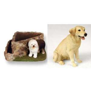 Labrador Retriever (Yellow Lab) Triangle Planter