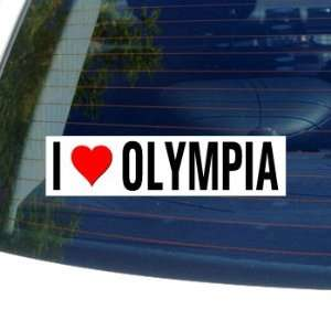 I Love Heart OLYMPIA   Washington Window Bumper Sticker
