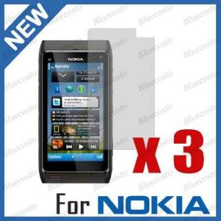 3pcs Clear LCD Screen Protector Film Cover For Nokia N8