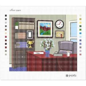 Office Space Needlepoint Canvas Arts, Crafts & Sewing