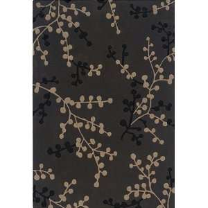 Linon Home Trio Collection Charcoal & Beige Rug