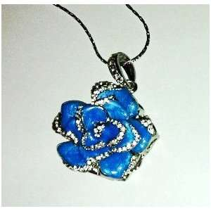 8GB Nice Blue Crystal Jewelry Flower USB Flash Drive with