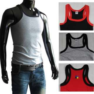 100%Cotton muscle Vest Men Slim Fit Sexy Stylish Tank Tops Sleeveless