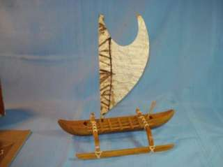 VINTAGE HAWAIIAN OUTRIGGER CANOE   IN BOX   HAWAII SOUVENIR