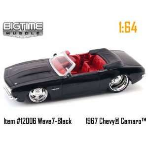 Muscle Black 1967 Chevy Camaro Convertible 164 Scale Die Cast Car