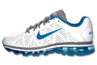 NIKE AIR MAX 2011 WHITE / ROYAL /GREY LEATHER RUNNING SHOE BRAND NEW