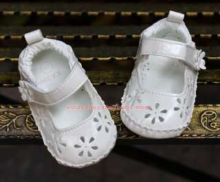 Baby Girl White Floral Mary Jane Mexx Dress Shoes Newborn Sandals US