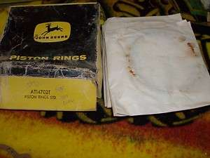 NOS John Deere Piston Rings for 1010 and 2010 AT14702T