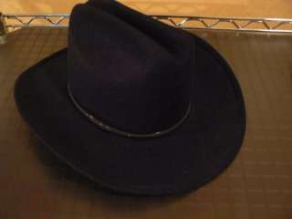 LN Boys Bailey black wool cowboy hat Small