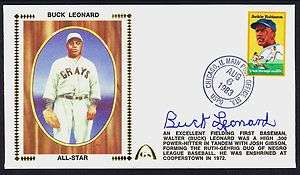 BUCK LEONARD HOF AUTO FIRST DAY COVER SIGNED AUTOGRAPHED PSA DNA