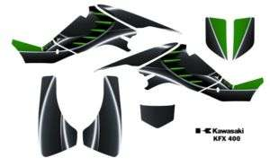 Kawasaki KFX 400 Atv Quad Graphics Decal Kit 8001Green