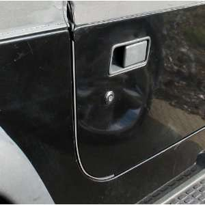 Jeep Wrangler Door Edge Guards   YJ / TJ   In Matte Black Automotive