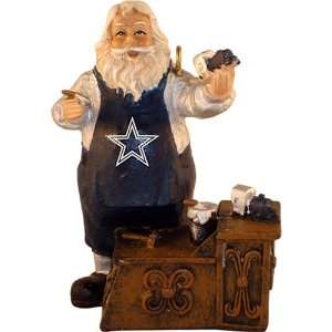 Dallas Cowboys Workshop Santa Christmas Tree Ornament by
