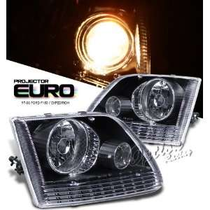 1997 2003 FORD EXPEDITION,SUV HEADLIGHT, BLACK EURO STYLE