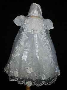 GIRL & TODDLER CHRISTENING BAPTISM DRESS GOWN NEW BORN TO 30 MONTHS