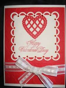 Handmade Valentines Day Card Stampin Up Cuttlebug Love