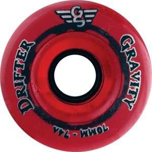 Gravity Burner 74a 66mm Trans Red Skateboard Wheels (Set