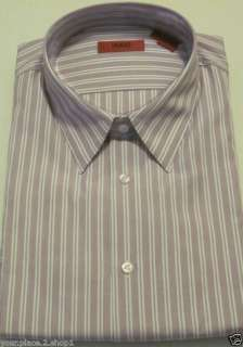 Hugo Hugo Boss Mens Purple Stripe ElvorX Dress Shirt