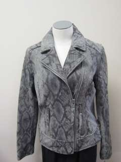 MICHAEL Michael Kors Python Print Suede Leather Motorcycle Jacket NWT