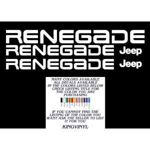 Jeep Wrangler Renegade Windshield & Hood Decal Set (White